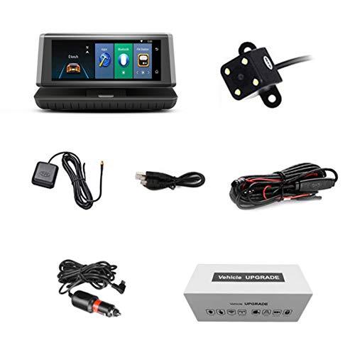 8-Zoll-Noten-Auto-Auto DVR 4G Android WiFi GPS-Videogerät-Doppelobjektiv HD Schlag-Nocken-Unterstützungs-Mikro-SIM TF Karte - Schwarz