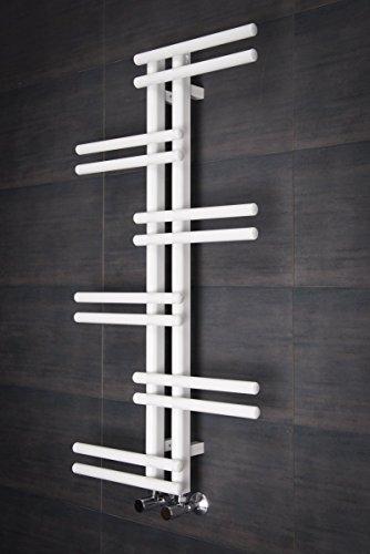 sèche-serviettes eau chaude 296w ? 1005 x 550mm ? design ? blanc ... - Radiateur Salle De Bain Chauffage Central