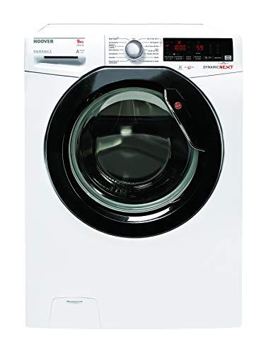Hoover Waschmaschine Frontlader 9kg | 1400 U/Min. | Superleiser Inverter Motor | 14 Programme u.a. Dampfprogramm | Startzeitvorwahl | Digitales Touchdisplay & NFC Technologie