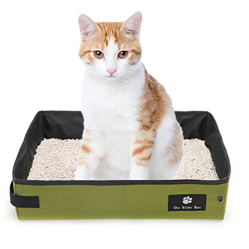 HanDingSM Tragbare Haustiertoilette Reise Faltbar Toilette für Katzen (S)