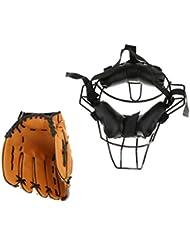 Sharplace Gant De Baseball + Capteur de Masque De Protection Visage de Baseball Accessoires Sportif