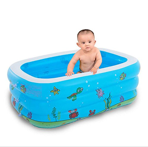 Baño Práctico Para Niños Adultos Infantiles Printed Blue Inflable Family  Adult Large Swimming Pool Baño Anti