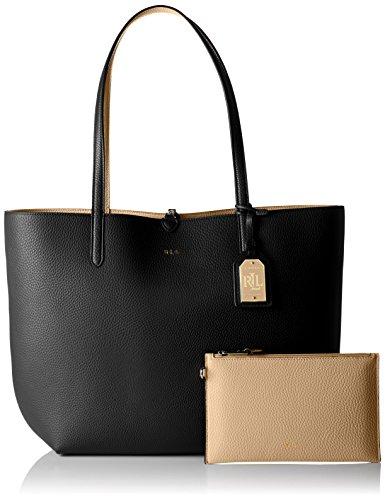 Ralph Lauren Olivia Tote, sac à main Schwarz (Black/Camel)