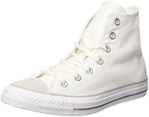 Converse Damen CTAS HI Fitnessschuhe, Weiß Silver/White 102, 42/43 EU (Converse Damen Silber All Star)