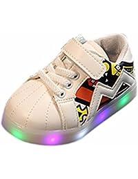 K-youth® Zapatos Unisex Niños LED Luz Luminosas Flash Zapatos Zapatillas de Deporte Zapatos de Bebé Antideslizante Zapatillas con Luces Para Niñas Niños