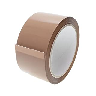 PP Parcel Tape Brown 6 Rolls 50 MM x 66 M 48my quiet unrolling