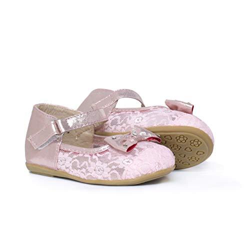 Zapatos Bailarina niñas Lazo Plano Brillantes, Color