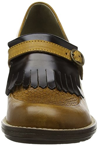 Tacco London 004 Chad878fly brown mustard Fly Scarpe Donna Marrone con wIdyqZB
