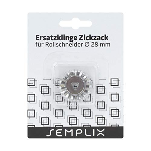 SEMPLIX Ersatzklinge Rollschneider Zickzack 28mm: Zum Nähen, Handarbeiten, Basteln | für Stoffe, Filz, Leder, Papier, Foto