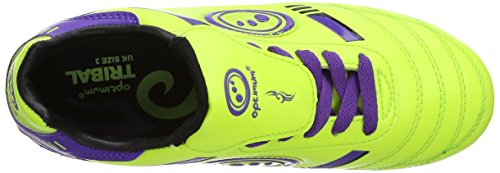 Optimum Tribal, Chaussures de Rugby Garçon Jaune (yellow/purple)