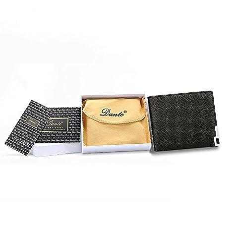 Dante vachette véritable en cuir Portefeuille pour homme avec boite cadeau pour cadeau d'anniversaire