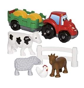 Jouets Ecoiffier Tractor con Remolque ABRICK, Multicolor (3348)