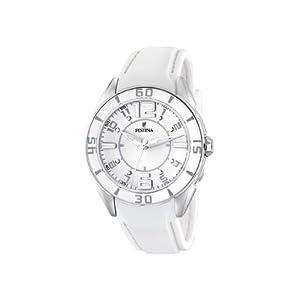 Reloj de mujer FESTINA F16492/1 de cuarzo, correa de plástico, color blanco de Festina