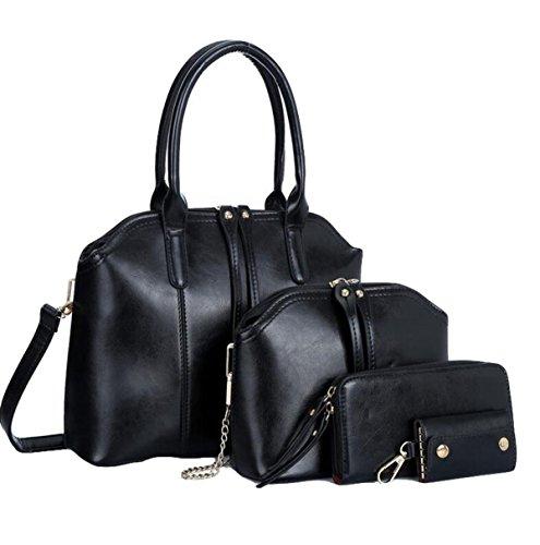 Damen Handtasche Umhängetasche Messenger Tasche Mutter Tasche Liu Nagel Wilde Einfache Mode Black