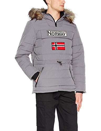 Geographical Norway Casimire, Parka para Hombre, Gris (Light Grey), Small (Tamaño del...