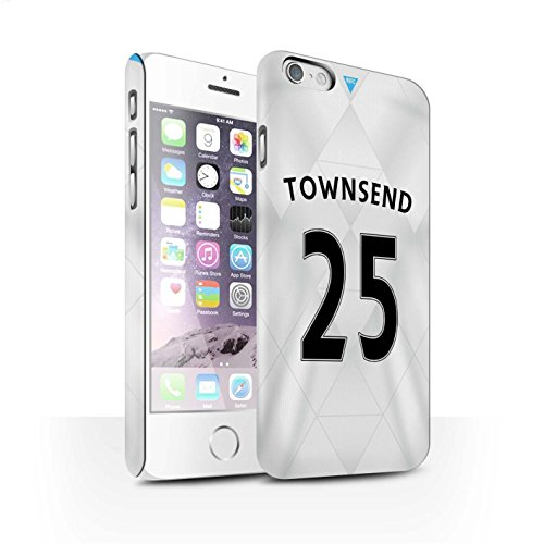 Offiziell Newcastle United FC Hülle / Matte Snap-On Case für Apple iPhone 6S / Pack 29pcs Muster / NUFC Trikot Away 15/16 Kollektion Townsend
