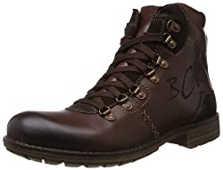 Buckaroo Mens Daxon Brown Leather Boots - 8 UK