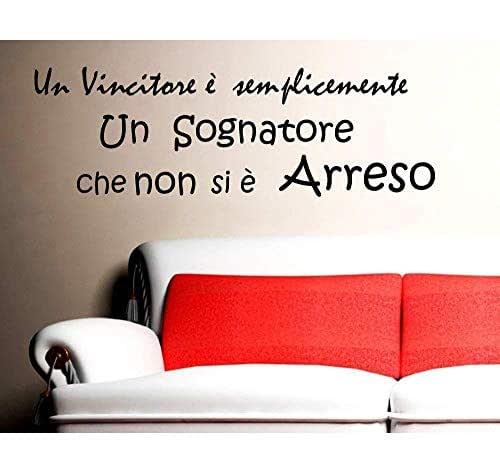 Adesivi Murali Frase Nelson mandela Un vincitore è un sognatore Adesivo da parete Wall Stickers Decals StickerDesign