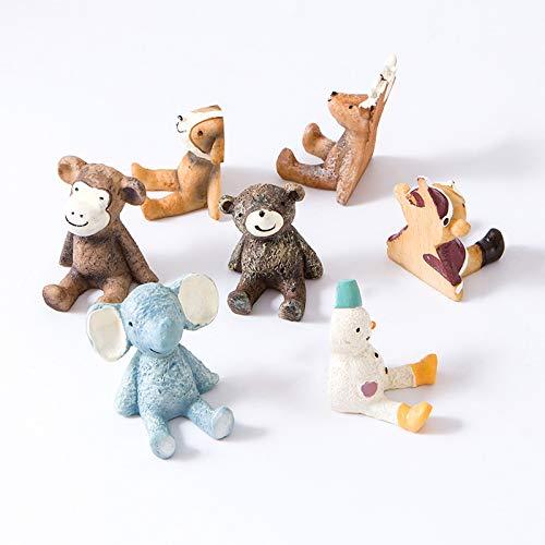 Gu3Je Dekorative Wandgarderoben zum Aufhängen, Schals, Geldbörsen, Rucksäcke, Handtücher und mehr,7 Stück / 1 Set, Bright Mehrere Tierarten Weihnachtsbär