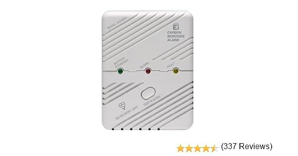 Ei Electronics Ei204EN D/étecteur de monoxyde de carbone sans fil Bouton Test Fonction Silence Auto-Diagnostique 85dB 3 Piles AA incluses