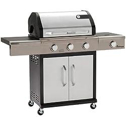 Landmann - 12940 - Barbecue Gaz Triton PTS 3+1 Bruleurs - Gris