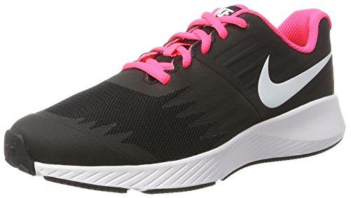 NIKE Mädchen Star Runner (GS) Laufschuhe, Schwarz (Black/White-Volt-Racer Pink), 37.5 EU (Pink Nike Schwarz)