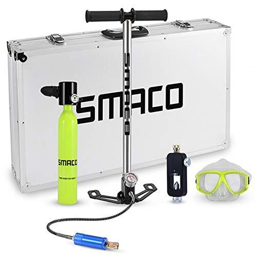 WARM ROOM Tauchausrüstung, Sauerstoffflaschen-Set Mini Scuba Tank Totale Freiheit, 5 bis 10 Minuten unter Wasser zu atmen