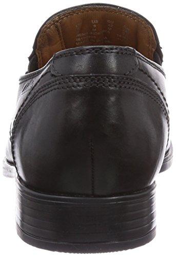 Clarks Kalden Step Herren Derby Schnürhalbschuhe Schwarz (Black Leather)