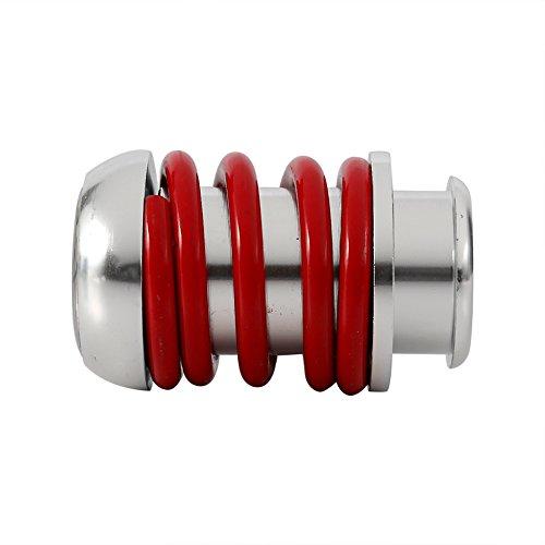 Qiilu 5 Geschwindigkeit Auto Schalthebel Stick Manuelle Schaltknauf Hebel Universal Aluminium(Rote) -