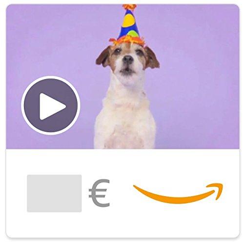 Cheque Regalo de Amazon.es - E-Cheque Regalo - Perros de cumpleaños (animación)