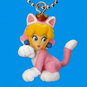 Preisvergleich Produktbild Super Mario 3D World Mascot Schlüsselanhänger: Katzen-Peach / Cat Peach