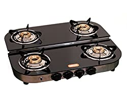 Magna Homewares Glass Top 4 Burners STEP Gas Stove-Auto Ignition