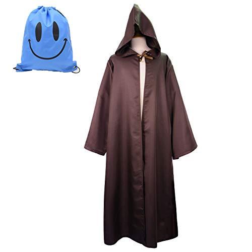 Jedi Knight Fancy Dress Kostüm - Myir Robe mit Kapuze Herren, Ritter