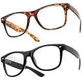 Boolavard® Nerd Sonnenbrille im Stil Retro Vintage Unisex Brille - 45 Modelle wählbar