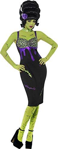 Smiffys, Damen Pin Up Frankie Kostüm, Kleid, Blume und Halsband, Größe: L, (Braut Frankies Kostüme)