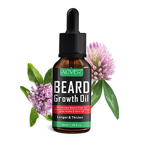 Festnight Aceite de barba Aceite Esencial de Crecimiento para Barba Pelo en el Pecho Líquido de Crecimiento de la Barba
