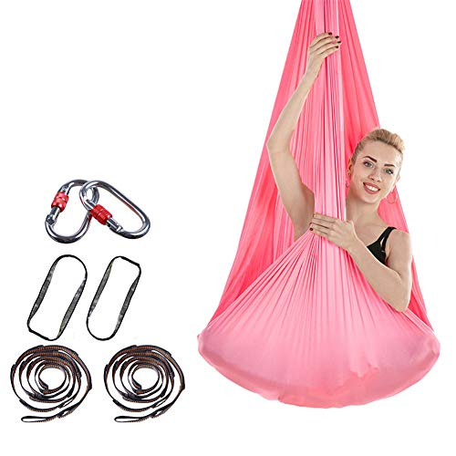 Trend Mark 5 Meters Full Set Aerial Yoga Hammock Swing Latest Multifunction Anti-gravity Yoga Belts Daisy Chain And Carabiners 20 Colors Fitness & Body Building