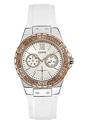 Guess Reloj Multiesfera para Mujer de Cuarzo con Correa en Caucho W1053L2