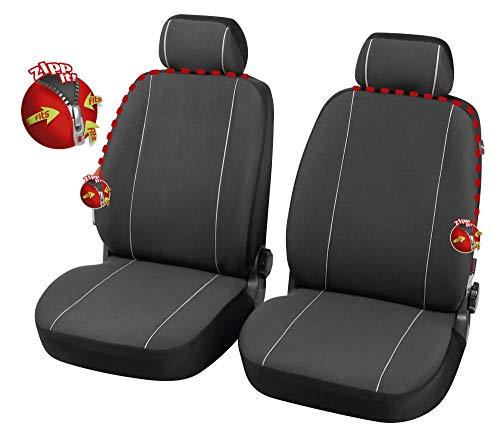 rmg-distribuzione Coprisedili SPECIFICI su Misura Fodere R39 Neri Grigi per Modus Copri Sedile Auto Anteriore 2 Pezzi co