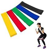 TopBine Widerstandsbänder, [5er Set] Fitnessbänder Gymnastikband Übungsbänder für Muskelaufbau Physiotherapie Pilates Yoga usw
