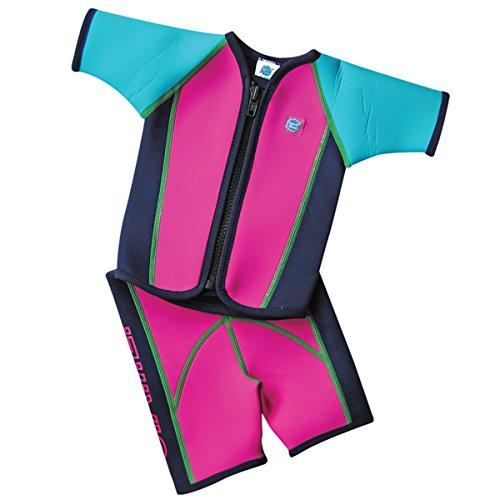 Splash About Kinder Schwimmanzug mit Weste und Shorts, Rosa, M (2-4 Jahre), JSSFP2