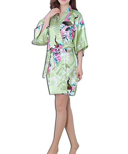 KAXIDY Femmes Filles Vêtements de Nuit Peignoirs Robe de Chambre Pyjama Robes Peignoirs Chemises de Nuit Vert