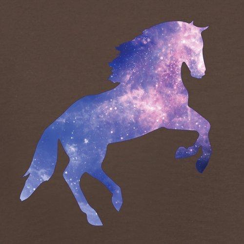 Galaxis Pferd - Herren T-Shirt - 13 Farben Schokobraun