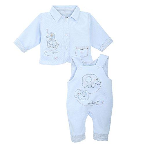 Babyset für Jungen 2-teilig Jäckchen und Hose blau Elefant Gr. 74