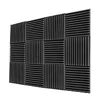 ألواح إسفنجية صوتية مقاس 5.08 سم × 30.48 سم - لوحات صوتية، بطانة مقاومة للصوت، لوحات إسفنجية مقاومة للصوت، لوحة إسفنجية عازلة للصوت، فوم استوديو، لوحة صوتية، أسفين من الإسفنج الصوتي.