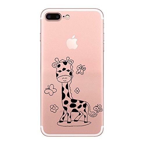 IPHONE 7plus Hülle Karikatur Giraffe Einhorn Silikon TPU Schutzhülle Ultradünnen Case Schutz Hülle für iPhone 7plus YM69