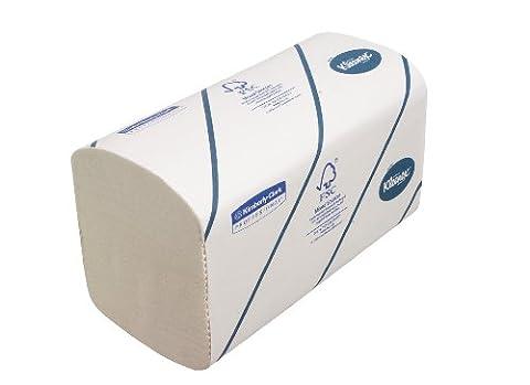 Kleenex 6789 Essuie-Mains Pliés ULTRA Petit Format, Technologie Airflex, 2790 Formats à 2 Plis, Code 6789, 15 Paquets de 186 Formats, Blanc (Pack de 15)