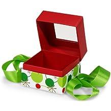 MINI-PK Hip Holiday PETITE Pres BoxSQUARE Box w / Ribbon 3-3 / 4x3-3 / 4x3 (5 unidades, 3 paquetes por unidad)