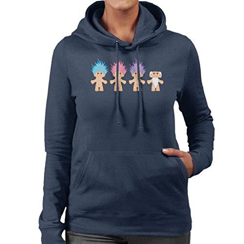 Lucky Trolls Women's Hooded Sweatshirt Navy blue