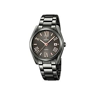 Reloj analógico Festina de Cuarzo con Esfera Negra y Pulsera Negra de Acero Inoxidable F16866/1